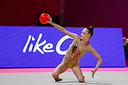 Wiesner Hanna Panna during the Pesaro World Championships at the Virtifrigo Arena on May 28-29, 2021.<br /> She is a Hungarian individual rhythmic gymnast born 2004 in Bubapest.
