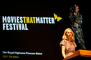 Opening Movies that Matter Festival.The Movies that Matter Festival is an initiative of the Dutch section of Amnesty International.On Thursday April 2nd 2009 her Royal Highness Princess Mabel, director of The Elders, will open our international festival on Peace and Justice in the International City of Peace and Justice.<br /> <br /> On the Photo:  Princess Mabel