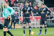 Liam Feeney (Blackburn Rovers) about to take a free kick on the edge of the Rotherham penalty box during the EFL Sky Bet Championship match between Rotherham United and Blackburn Rovers at the AESSEAL New York Stadium, Rotherham, England on 11 February 2017. Photo by Mark P Doherty.