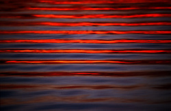 Stock photo of small waves travelling across the water