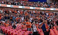 Blackpool supporters<br /> <br /> Photographer Andrew Kearns/CameraSport<br /> <br /> The EFL Sky Bet League One Play-Off Final - Blackpool v Lincoln City - Sunday 30th May 2021 - Wembley Stadium - London<br /> <br /> World Copyright © 2021 CameraSport. All rights reserved. 43 Linden Ave. Countesthorpe. Leicester. England. LE8 5PG - Tel: +44 (0) 116 277 4147 - admin@camerasport.com - www.camerasport.com