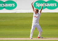 Gareth Berg (Hampshire CCC) appeals for the wicket of Scott Borthwick (Durham County Cricket Club) during the LV County Championship Div 1 match between Durham County Cricket Club and Hampshire County Cricket Club at the Emirates Durham ICG Ground, Chester-le-Street, United Kingdom on 1 September 2015. Photo by George Ledger.