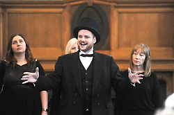 Andrew Carnegie's great-great-great grandson Joe Whiteman sings a song from the musical<br /> <br /> (c) David Wardle | Edinburgh Elite media