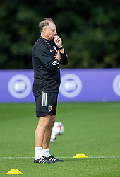 CARDIFF, WALES - Monday, August 31, 2020: Wales' Under-21 manager Paul Bodib during a training session at the Vale Resort ahead of the UEFA Under-21 Championship Qualifying Round Group 9 match between Bosnia and Herzegovina and Wales. (Pic by David Rawcliffe/Propaganda)