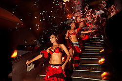 A team of belly dancers perform at the restaurant Comptoir Darna in Marrakech, Morocco on May 9, 2009.