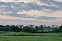 Biosphärenreservat Niedersächsische Elbtalaue; Mission: Black Storks River Elbe Germany; Biosphere Reserve Middle Elbe; Eisenbahnbrücke Doemitz; Railway Bridge Doemitz; panorama