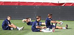 03.08.2011, Generali Arena, Wien, AUT, UEFA EL, Abschlusstraining FK Austria Wien, im Bild Florian Klein, (FK Austria Wien, #7), Manuel Ortlechner, (FK Austria Wien, #14), Marko Stankovic, (FK Austria Wien, #19) und Roland Linz, (FK Austria Wien, #9) ,  EXPA Pictures © 2011, PhotoCredit: EXPA/ T. Haumer
