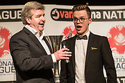 Martin Toal and Nick Gartland during the National League Gala Awards at Celtic Manor Resort, Newport, United Kingdom on 8 June 2019.