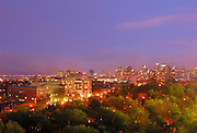 Picture of Montreal skyline as viewed from Parc Lafontaine building