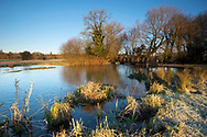Winter on the River Test at Cow Common, Chilbolton, Hampshire.