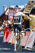 Arrival, Geraint Thomas (GBR - Team Sky) winner, during the 105th Tour de France 2018, Stage 11, Alberville - La Rosiere Espace Bernardo (108,5 km) on July 18th, 2018 - Photo Luca Bettini / BettiniPhoto / ProSportsImages / DPPI
