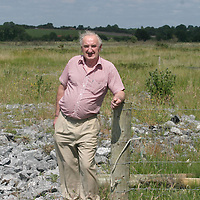 J.J McCabe pictured standing on the new Ennis by-pass with the land at Skehanagh that he sold for 18.5 millon Euro. pic Sean Curtin Press 22.