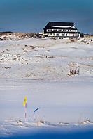 NOORDWIJK - De golfbaan van de Noordwijkse Golf Club in de sneeuw. COPYRIGHT KOEN SUYK