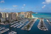 Ala Wai Yacht Harbor, Waikiki, Honolulu, Oahu, Hawaii