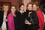JOANNA PEYTON-JONES; ELIZABETH PEYTON-JONES; LUCINDA PEYTON-JONES; JULIA PEYTON-JONES;  MARINA PEYTON-JONES, The Veuve Clicquot Business Woman Award. Claridge's Ballroom. London W1. 11 May 2015.