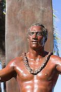 Duke Kahanamoku statue, Waikiki, Honolulu, Oahu, Hawaii