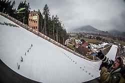 Ski jumper soaring through the air during Day 2 of World Cup Ski Jumping Ladies Ljubno 2017, on February 12, 2016 in Ljubno ob Savinji, Slovenia. Photo by Vid Ponikvar / Sportida