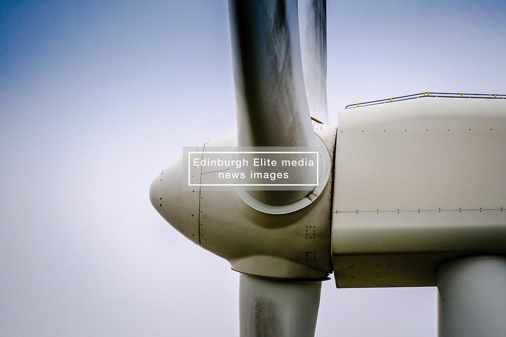 Close up detail of a Wind Turbine in South Lanarkshire, Scotland<br /> <br /> (c) Andrew Wilson   Edinburgh Elite media
