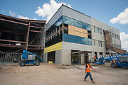 Construction at Law & Justice High School, June 20, 2017.