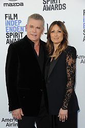 Ray Liotta and Jacy Nittolo at the 35th Annual Film Independent Spirit Awards held at the Santa Monica Beach in Santa Monica, USA on February 8, 2020.