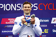 Podium, Men Keirin, Stefan Botticher (Germany) Gold medal during the Track Cycling European Championships Glasgow 2018, at Sir Chris Hoy Velodrome, in Glasgow, Great Britain, Day 6, on August 7, 2018 - Photo luca Bettini / BettiniPhoto / ProSportsImages / DPPI<br /> - Restriction / Netherlands out, Belgium out, Spain out, Italy out -