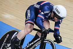 March 2, 2019 - Pruszkow, Poland - Sebastien Vigier of the France competes in the Men's sprint qualifying race on day four of the UCI Track Cycling World Championships held in the BGZ BNP Paribas Velodrome Arena on March 02 2019 in Pruszkow, Poland. (Credit Image: © Foto Olimpik/NurPhoto via ZUMA Press)