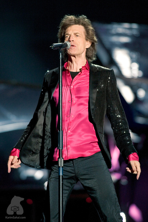 """The Rolling Stones perform in New Zealand during their 2006 world tour entitled """"A Bigger Bang"""""""