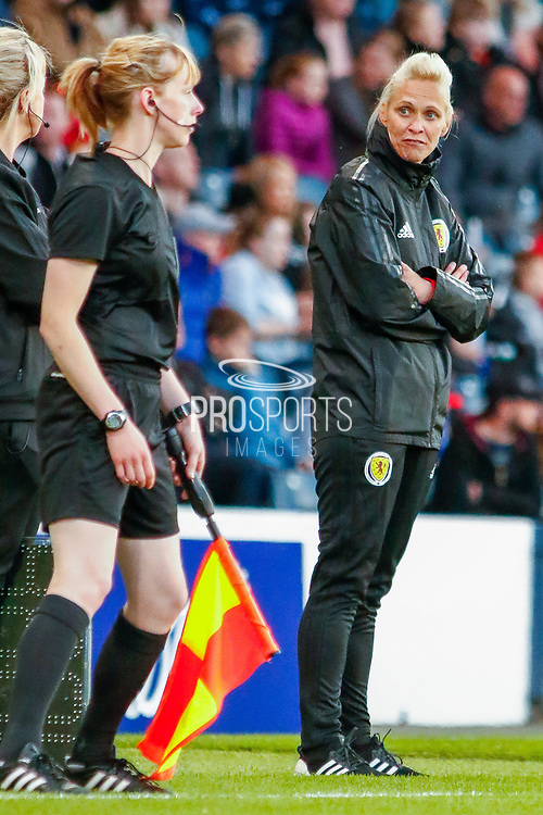 Scotland Head Coach Shelly KERR (SCO) during the International Friendly match between Scotland Women and Jamaica Women at Hampden Park, Glasgow, United Kingdom on 28 May 2019.