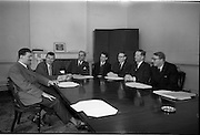 04/03/1964<br /> 03/04/1964<br /> 04 March 1964<br /> Group in boardroom at the Institute of Industrial Research and Standards, Glasnevin, Dublin.