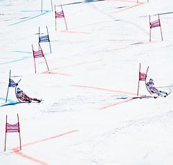 20.03.2011, Pista Silvano Beltrametti, Lenzerheide, SUI, FIS Ski Worldcup, Finale, Lenzerheide, NATIONEN TEAM EVENT, im Bild Ondrej Bank (CZE) vs Romed Baumann (AUT)  // Ondrej Bank (CZE) vs Romed Baumann (AUT) during Nations Team Event, at Pista Silvano Beltrametti, in Lenzerheide, Switzerland, 20/03/2011, EXPA Pictures © 2011, PhotoCredit: EXPA/ J. Feichter