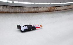 20.02.2016, Olympiaeisbahn Igls, Innsbruck, AUT, FIBT WM, Bob und Skeleton, Damen, Skeleton, 3. Lauf, im Bild Janine Flock (AUT) // Janine Flock of Austria competes during women Skeleton 3rd run of FIBT Bobsleigh and Skeleton World Championships at the Olympiaeisbahn Igls in Innsbruck, Austria on 2016/02/20. EXPA Pictures © 2016, PhotoCredit: EXPA/ Johann Groder