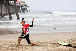 Pat Gudauskas of USA before Heat 11 of Round Three at The VANS US Open of Surfing in Huntington Beach, CA, USA