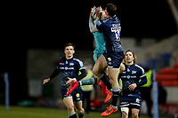 Rugby Union - 2020 / 2021 Gallagher Premiership - Sale Sharks vs Worcester Warriors - AJ Bell Stadium<br /> <br /> Nick David of Worcester Warriors and Tom Roebuck of Sale Sharks<br /> <br /> COLORSPORT/PAUL GREENWOOD