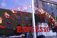 The Caffe Trieste was started by Giovanni Giotta in 1950.  Giotta had emigrated to San Francisco, California, from the small fishing town of Rovigno, Italy.  Remembering the espresso houses of Italy, Giotta opened Caffe Trieste which is said to be the first coffee house on the West Coast to serve espresso drinks.  The original Caffe Trieste in North Beach quickly became popular among the neighborhood's Italian residents.  The Caffé Trieste also becomes a convenient meeting place for Beat movement celebrities like Jack Kerouac, Allen Ginsberg, Robert Brautigan, Gregory Corso, Michael McClure, Kenneth Rexroth, and many others who lived in North Beach in the 1950s and 1960s.  Francis Ford Coppola wrote much of the screenplay for The Godfather while sitting in the Caffe Trieste. Its is also the home of the Trieste Saturday Concert.