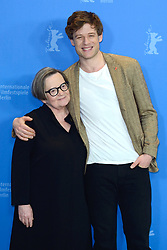 Agnieszka Holland and James Norton attending the Mr. Jones Photocall as part of the 69th Berlin International Film Festival (Berlinale) in Berlin, Germany on February 10, 2019. Photo by Aurore Marechal/ABACAPRESS.COM