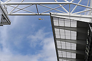 a helicopter hovers over the stadium ahead of k/o.UEFA Euro 2016, group B , England v Wales at Stade Bollaert -Delelis  in Lens, France on Thursday 16th June 2016, pic by  Andrew Orchard, Andrew Orchard sports photography.
