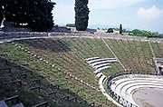 Amphitheatre at the archaeological site of Roman Pompeii, Italy 1999