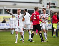 Falkirk's Craig Sibbald at the end. Dunfermline 1 v 2 Falkirk, Scottish Championship game played 22/4/2017 at Dunfermline's home ground, East End Park.