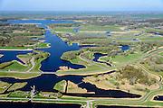 Nederland, Noord-Holland, regio Waterland, 20-04-2015; Landsmeer, Recreatieschap Het Twiske met Twiskemolen aan de Ringvaart van het natuurgebied en recreatiegebied. Natura 2000 gebied.<br /> Het Twiske, nature reserve and recreational area north of Amsterdam.<br /> luchtfoto (toeslag op standard tarieven);<br /> aerial photo (additional fee required);<br /> copyright foto/photo Siebe Swart