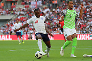 England Raheem Sterling (10) dribbling and controlling the ball during the Friendly International match between England and Nigeria at Wembley Stadium, London, England on 2 June 2018. Picture by Matthew Redman.