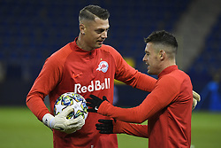 November 26, 2019, Genk, UNITED KINGDOM: Salzburg's Alexander Walke and Salzburg's Zlatko Junuzovic pictured during a training session of Austrian club RB Salzburg, Tuesday 26 November 2019 in Genk, in preparation of tomorrow's match against Belgian soccer team KRC Genk in the group stage of the UEFA Champions League. BELGA PHOTO YORICK JANSENS (Credit Image: © Yorick Jansens/Belga via ZUMA Press)