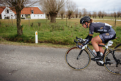 Amy Pieters pulls the front group along on the road back to Waregem - Dwars door Vlaanderen 2016, a 103km road race from Tielt to Waregem, on March 23rd, 2016 in Flanders, Netherlands.