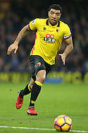 Troy Deeney, the Watford captain in action. Premier league match, Watford v Everton at Vicarage Road in Watford, London on Saturday 10th December 2016.<br /> pic by John Patrick Fletcher, Andrew Orchard sports photography.