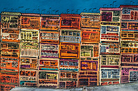 colorful design drawing in a street wall at Soho Central in Hong Kong