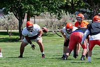 KELOWNA, BC - JULY 27: The Okanagan Sun football club scrimmages at Parkinson Fields on July 27, 2019 in Kelowna, Canada. (Photo by Marissa Baecker/Shoot the Breeze)