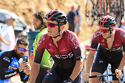 Vasil Kiryienka (BLR) and Ian Stannard (GBR) Team Ineos on the final Cat 1 climb up to Observatorio Astrofisico de Javalambre during Stage 5 of La Vuelta 2019 running 170.7km from L'Eliana to Observatorio Astrofisico de Javalambre, Spain. 28th August 2019.<br /> Picture: Eoin Clarke | Cyclefile<br /> <br /> All photos usage must carry mandatory copyright credit (© Cyclefile | Eoin Clarke)