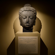 Sackler Gallery Buddha Head. Head from a figure of The Buddha, Indonesia, 8th century. The Arthur M. Sackler Gallery, located behind the Smithsonian Castle, showcases ancient and contemporary Asian art. The gallery was founded in 1982 after a major gift of artifacts and funding by Arthur M. Sackler. It is run by the Smithsonian Institution.