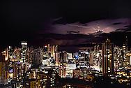 Lightning storm over Panama City Bay, Republic of Panama.
