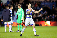 Queens Park Rangers striker Jamie Mackie (12) celebrating during the EFL Sky Bet Championship match between Queens Park Rangers and Ipswich Town at the Loftus Road Stadium, London, England on 2 January 2017. Photo by Matthew Redman.