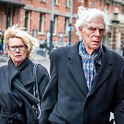 NLD/Amsterdam//20170309 - Herdenkingsdienst Guus Verstraete, Martine Bijl en partner Berend Boudewijn